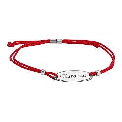 Браслет шелковый с серебряной вставкой Karolina
