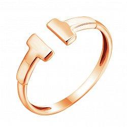 Золотое кольцо Знак моды в красном цвете с разомкнутой шинкой в стиле Тиффани