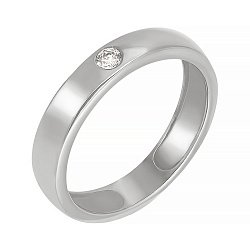 Обручальное кольцо с бриллиантом 000006432