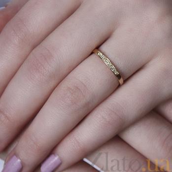 Кольцо из красного золота с бриллиантами Эмилиена 000010755