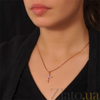 Декоративный крестик с бриллиантами Секрет EDM--КР7146