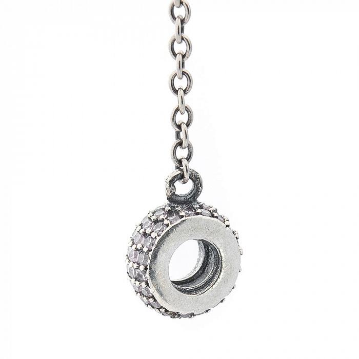 Шарм из серебра Цепочка с фианитами 000069861