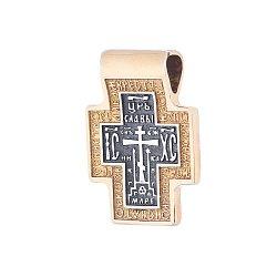 Серебряный крестик Святой Дух с позолотой 000062545