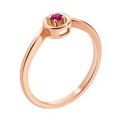Кольцо из красного золота с рубином 000138654