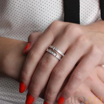 Золотое обручальное кольцо Модерн с фианитами TRF--4421342