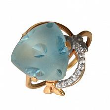 Золотое кольцо с топазами и фианитами Кассандра