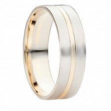 Кольцо обручальное из комбинированного золота Счастье любви