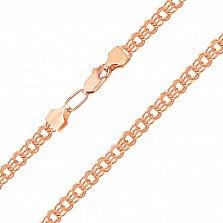 Золотая цепь Варшава в плетении бисмарк с алмазной гранью