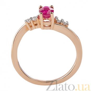 Кольцо из красного золота с рубином Александра TRF--1121543н/руб
