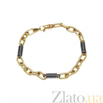 Браслет из комбинированного золота Пружинка 000081295