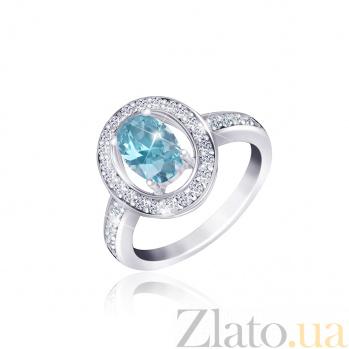 Серебряное кольцо с голубым фианитом Маргарет 000025471