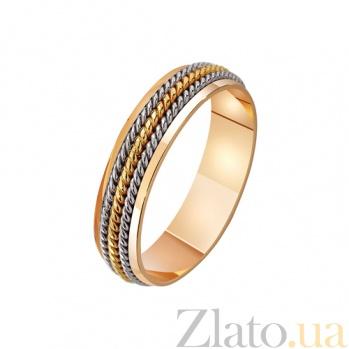 Золотое обручальное кольцо Любовные нити TRF--421129