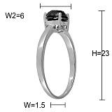 Кольцо Необыкновенной моей из белого золота с бриллиантом