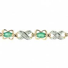 Золотой браслет с бриллиантами и изумрудами Люка