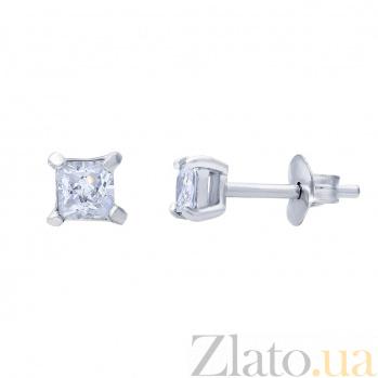 Серебряные серьги-пуссеты с цирконами Клео AQA--2202071/3