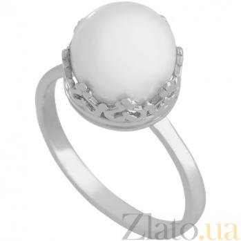 Золотое кольцо в белом цвете с жемчугом Рассвет империи 000030810