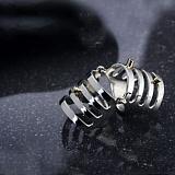 Серебряное бандажное кольцо с золотыми вставками Девон