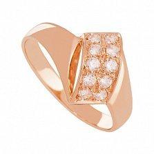 Кольцо из золота с фианитами Виэтрикс