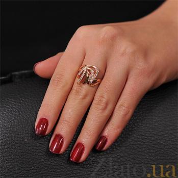 Кольцо из красного золота Успех с фианитами EDM--КД0217