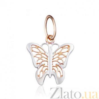 Золотая подвеска Поцелуй бабочки EDM-П0235