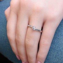 Серебряное кольцо Аэлин с фианитом