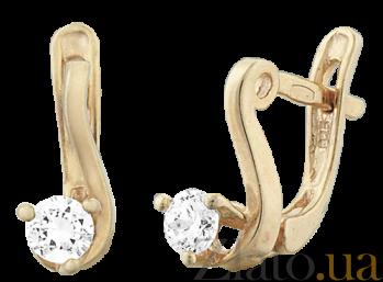 Серьги из серебра с фианитами Диляра SLX--С3Ф/091