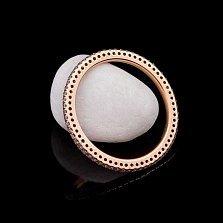 Золотое фаланговое кольцо Зачарованный круг с бриллиантами
