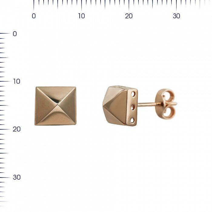 Серьги-пуссеты из красного золота Идан 000081449