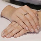 Золотое кольцо с цирконием Лейла