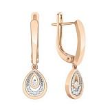 Золотые серьги с бриллиантами Сальма