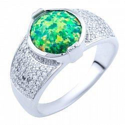 Серебряное кольцо Раджни с опалом и фианитами