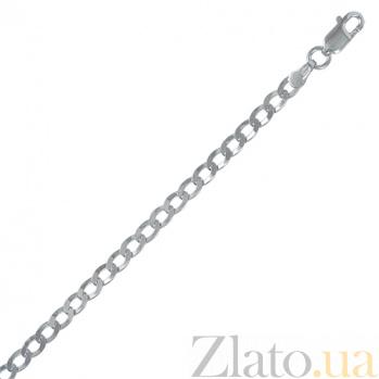 Серебряный браслет Ариан с родированием, 21 см 000027439