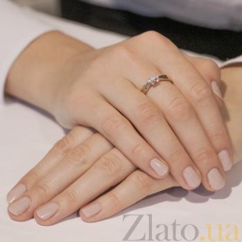 Золотое кольцо с цирконием Лейла 3522734