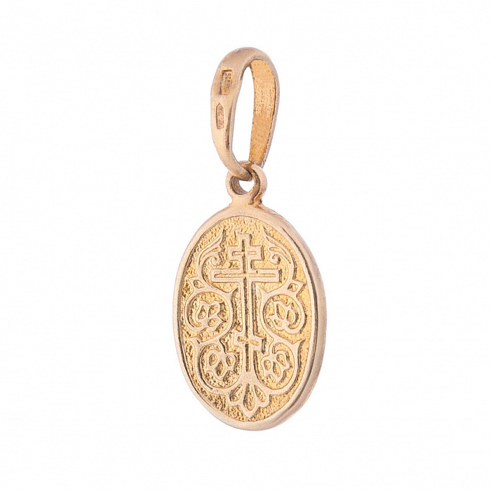 Серебряная ладанка Матерь Божья с позолотой 000080227