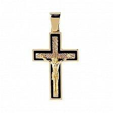 Золотой крест со вставками оникса Настоятель