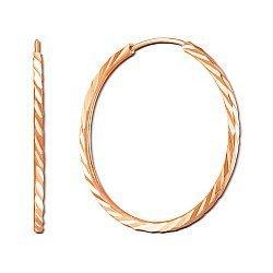 Серьги-кольца из красного золота, d30mm 000059035