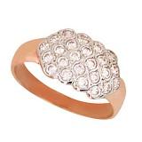 Золотое кольцо Соты с фианитами