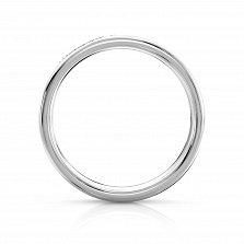 Золотое кольцо Арлайна в белом цвете с бриллиантами
