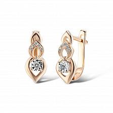 Серьги из золота с бриллиантами Феридэ