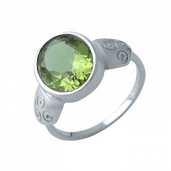 Серебряное кольцо Хилини с корундом и узорами на шинке