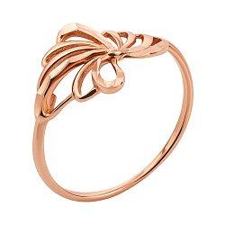 Кольцо из красного золота с алмазной гранью 000132240