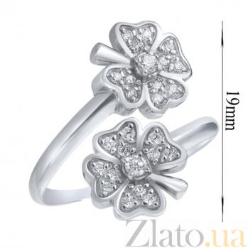 Серебряное кольцо Цветочный дуэт AUR--71415б