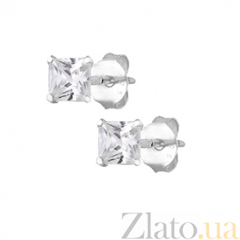 Сережки из серебра с фианитами Элен SLX--С1Ф/602