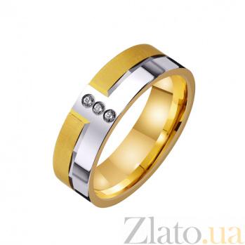 Золотое обручальное кольцо Романтическая история с фианитами TRF--4421575