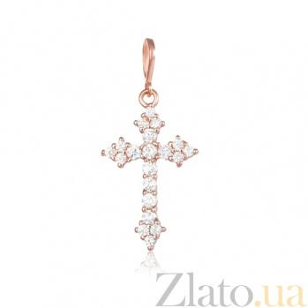 Серебряный крестик с фианитами Пелагея 000028695