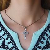 Крестик из серебра Силы Небесные с чернением