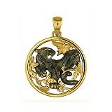 Подвеска Черная Пантера из желтого золота