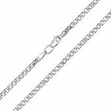 Серебряная цепочка родированная Рембо, 3мм