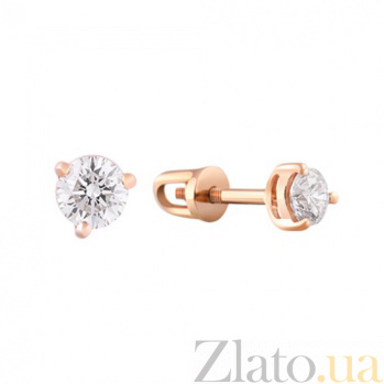 Золотые серьги с бриллиантами Лея KBL--С2098/крас/брил