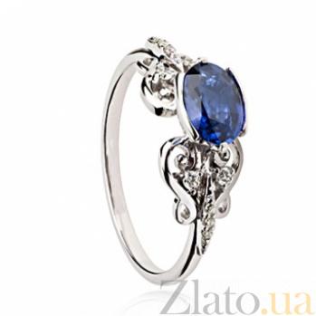 Золотое кольцо Мнемозина с сапфиром и бриллиантами SG--36087590